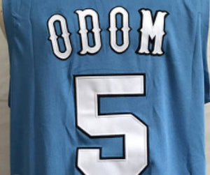 Lamar Odom Rhode Island College Basketball Jersey Custom Throwback Retro College Jersey