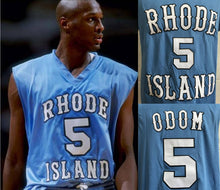 Load image into Gallery viewer, Lamar Odom Rhode Island College Basketball Jersey Custom Throwback Retro College Jersey