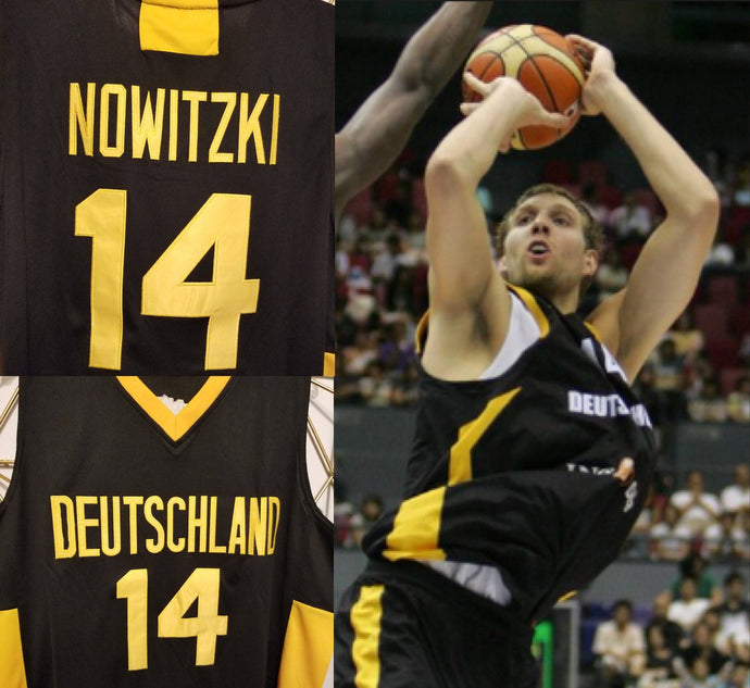 FLASH SALE! Dirk Nowitzki Deutschland Germany Basketball Jersey Custom Throwback Retro Jersey