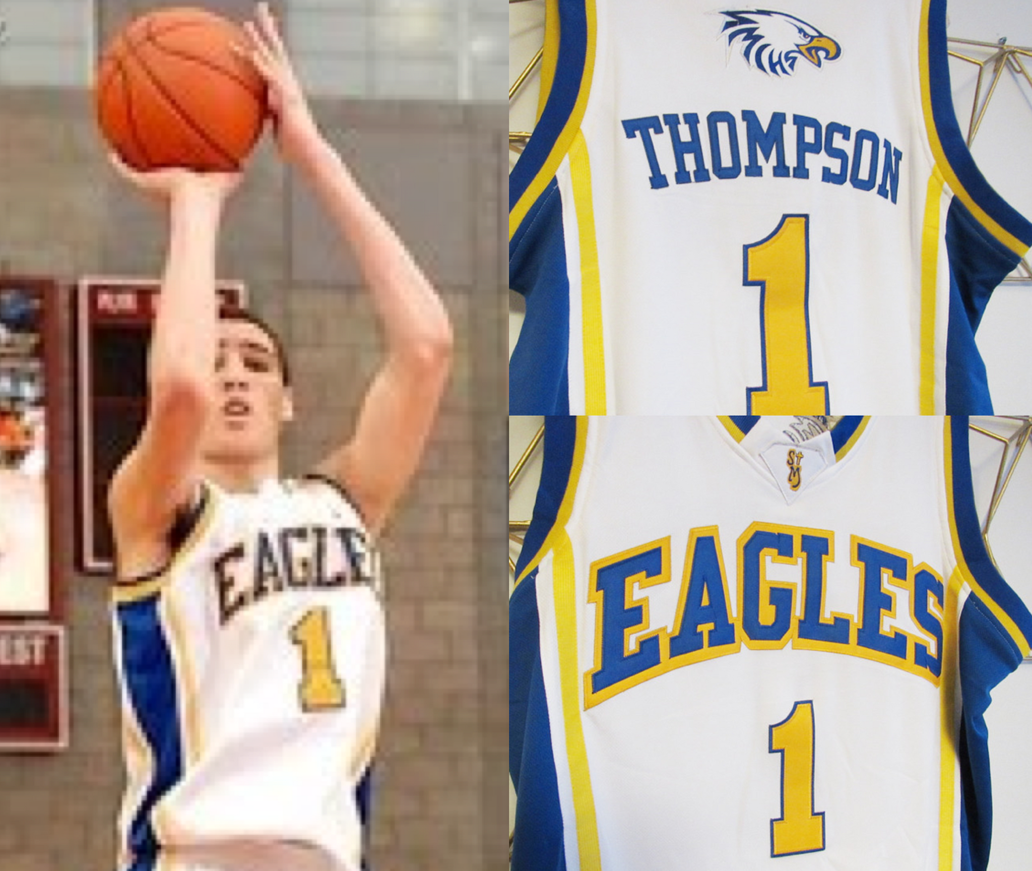 new style 63876 cce7f Klay Thompson Eagles High School Basketball Jersey (Home ...