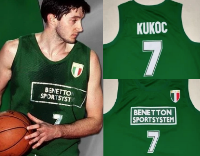 Toni Kukoc EuroLeague Jersey Yugoslavia EuroBasket Green Throwback Custom Retro Basketball Jerseys