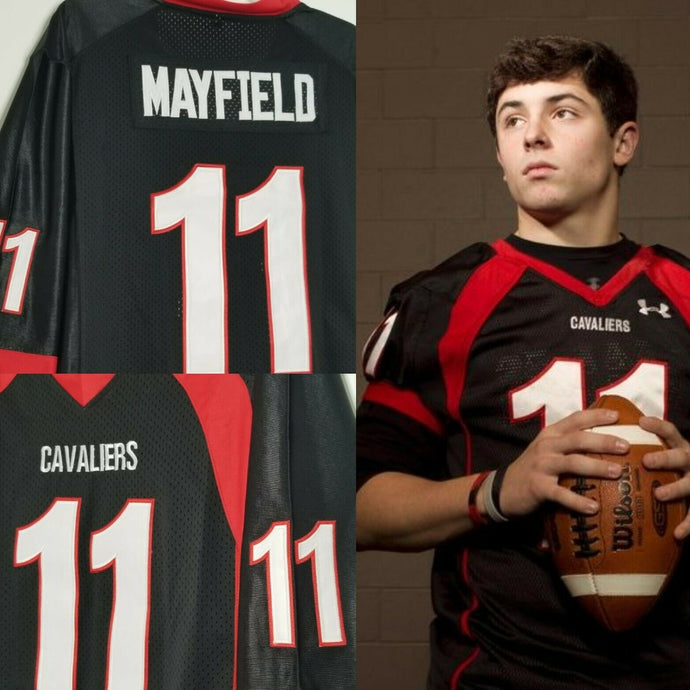 Baker Mayfield High School Football Jersey Cleveland Custom Throwback Retro