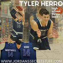 Load image into Gallery viewer, Tyler Herro Whitnall High School Jersey Retro Custom Throwback Sports Apparel