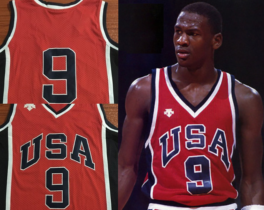 1984 Olympics Michael Jordan USA Jersey MJ Gold Medal Retro Chicago Last Dance
