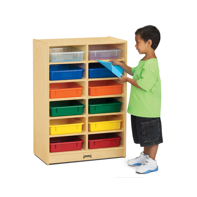 Jonti-Craft 12 Paper-Tray Mobile Storage - with Colored Paper-Trays