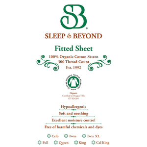 Sleep & Beyond 100% Organic Cotton Fitted Sheet