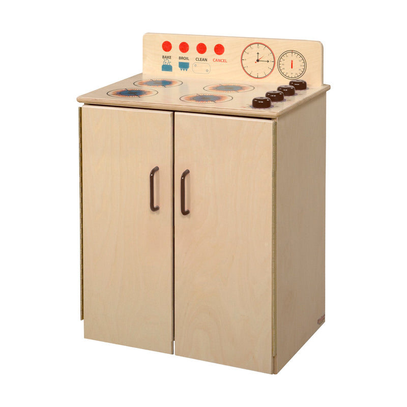Wood Designs Kids Play Classic Deluxe Range with Brown Knobs