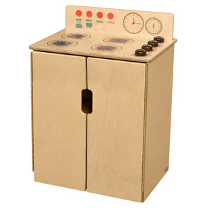 Wood Designs Tip-Me-Not Kids Play Range with Brown Knobs