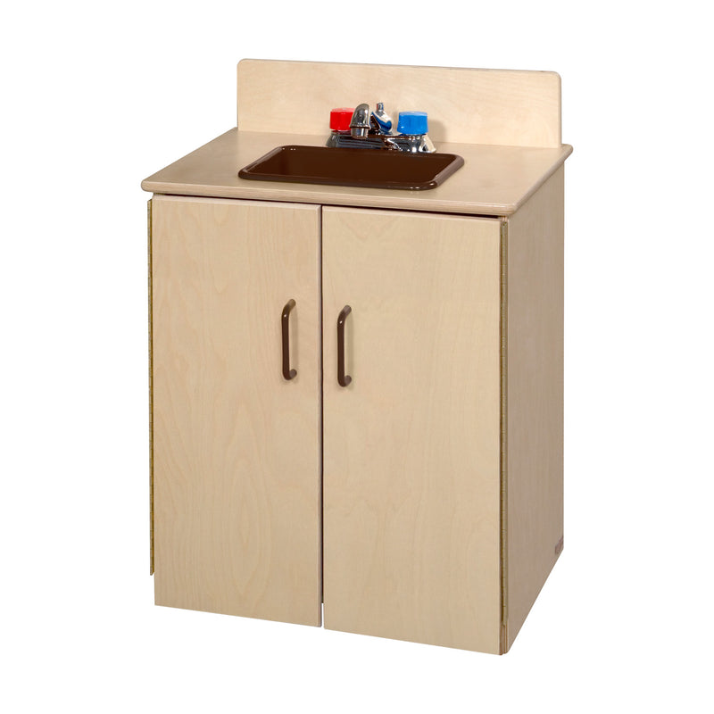 Wood Designs School Age Deluxe Sink with Brown Tray