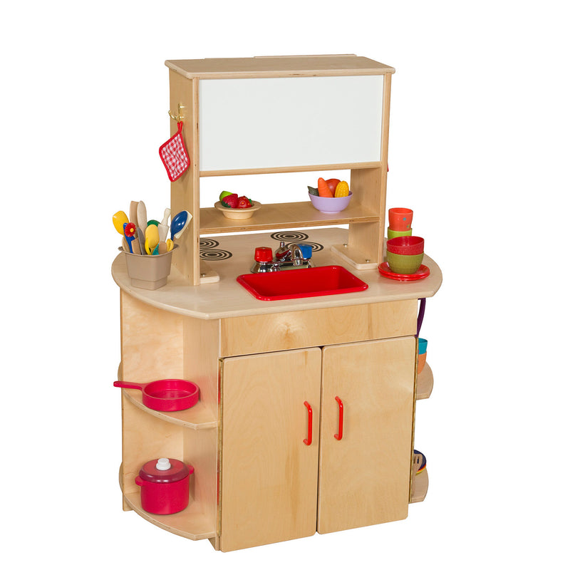 Wood Designs Kids Play All-In-One Kitchen Center