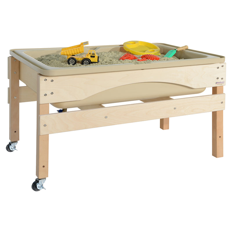 Wood Designs Absolute Best Sand and Water Sensory Center without Lid