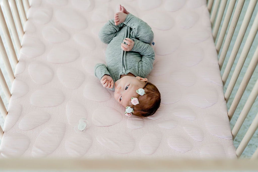 Nook Sleep Systems Air Lightweight Crib Mattress Blush Pebble With Cover