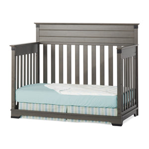 Child Craft Redmond 4-in-1 Convertible Baby Crib in Dapper Gray