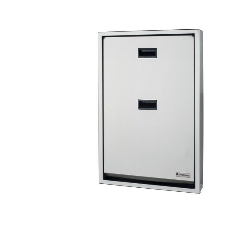 Foundations Full Stainless Vertical Surface Mount Public Washroom Baby Changing Station