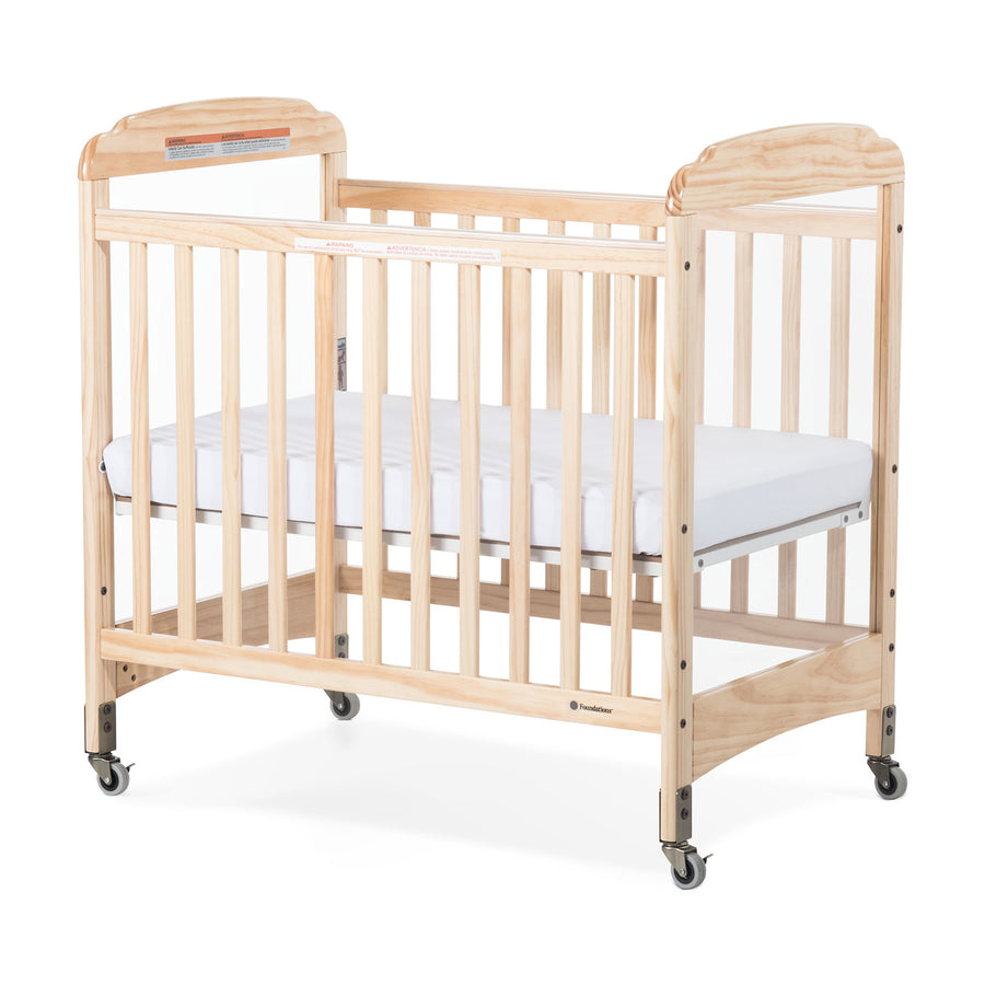 Foundations Next Gen Serenity Fixed-Side Compact Clearview Crib - Natural