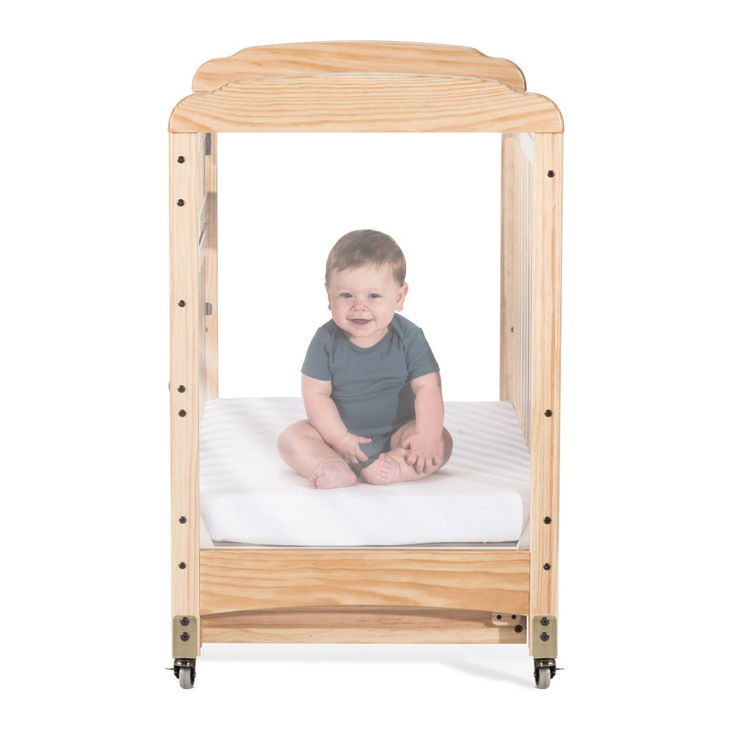 Foundations Next Gen Serenity SafeReach Compact Clearview Crib - Natural
