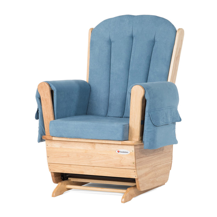 Foundations SafeRocker Standard Rocker Glider - Natural/Blue