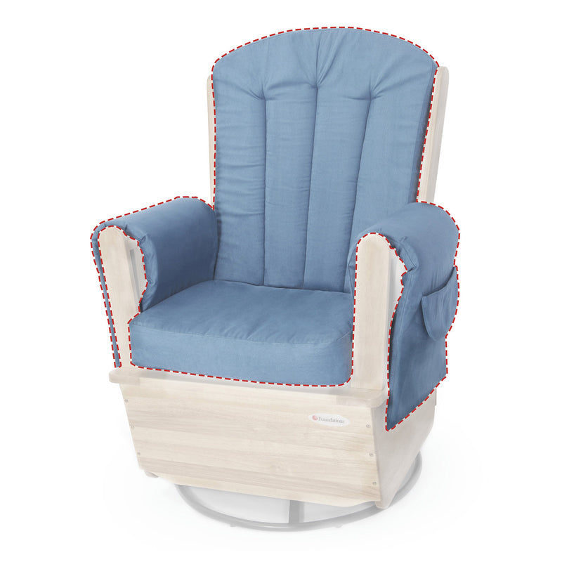 Foundations SafeRocker Swivel Rocker Glider - Natural/Blue