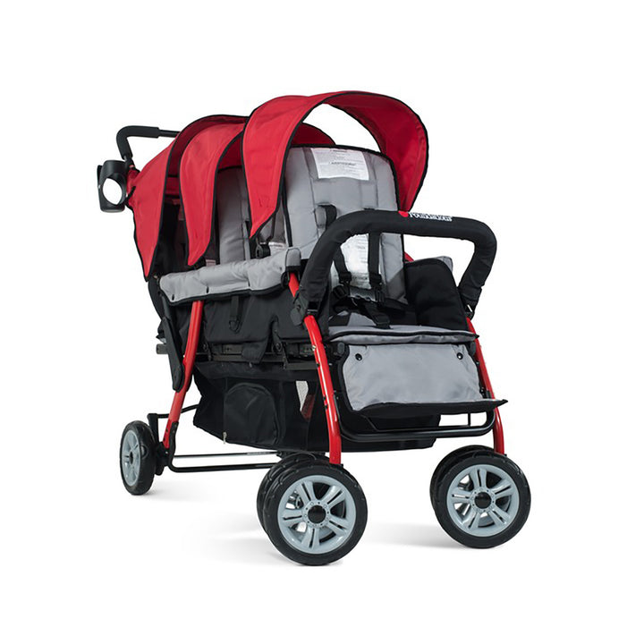 Foundations Trio Sport Triple Tandem Stroller - Red