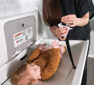 Foundations Ultra Horizontal Public Washroom Baby Changing Station (EZ Mount Backer Plate Included)