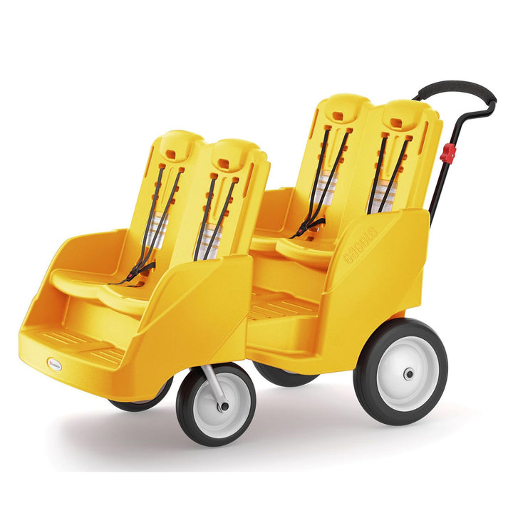 Gaggle Parade 4 Multi-Passenger Yellow Buggy by Foundations