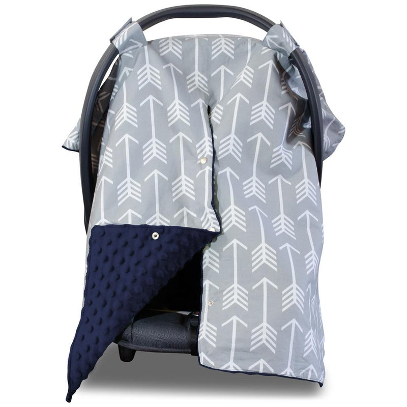 Kids N' Such Arrow Car Seat Canopy with Dot Minky And Peekaboo Opening
