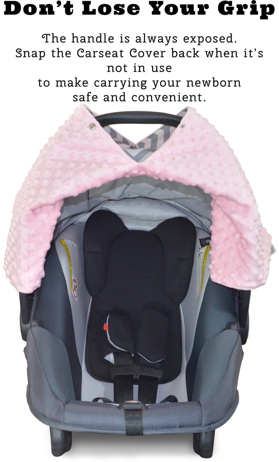 Kids N' Such Chevron Car Seat Canopy With Dot Minky And Peekaboo Opening
