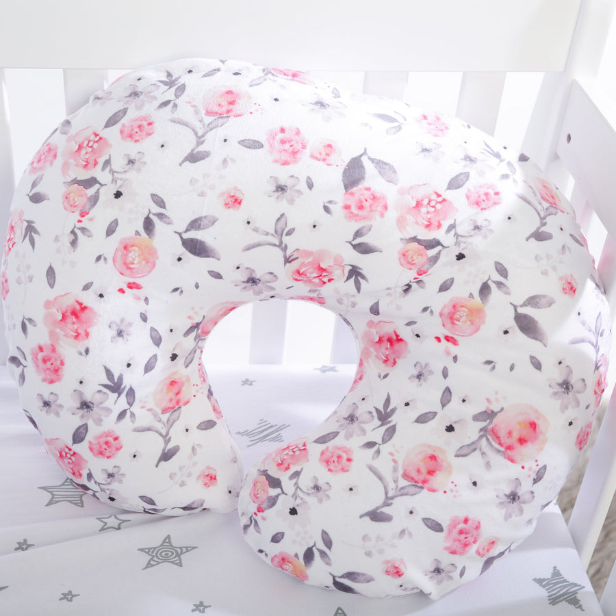 Kids N' Such Minky Nursing Pillow Cover - Petal & Stems