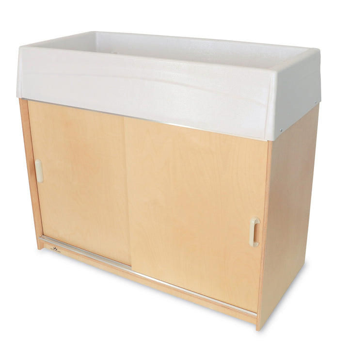 Whitney Brothers Ez Clean Birch Changing Cabinet with Trays