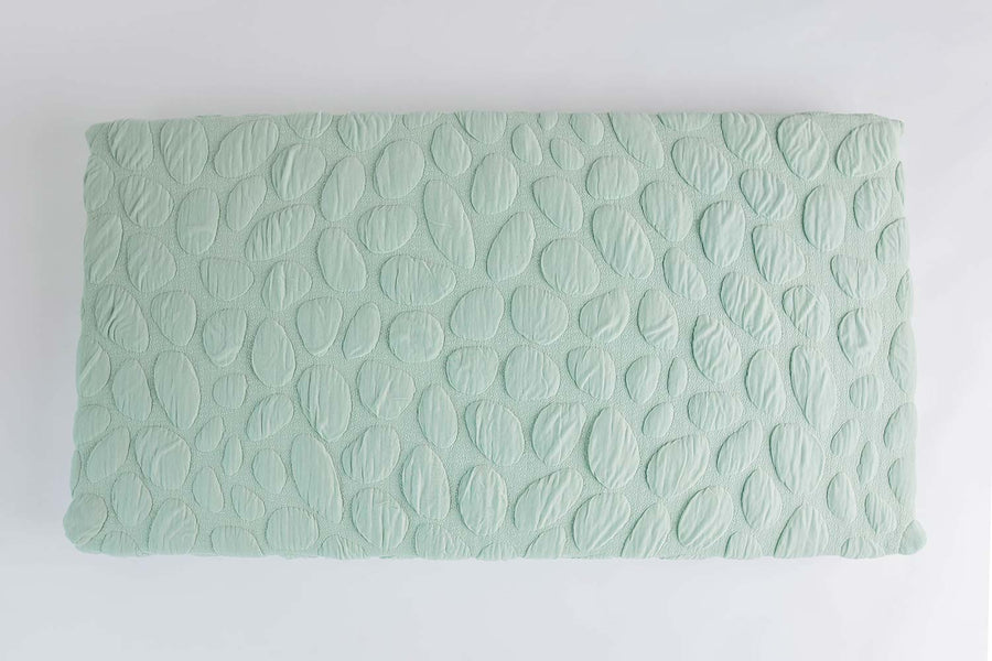 Nook Sleep Systems Pure Organic Crib Mattress With Sea Glass Pebble Cover