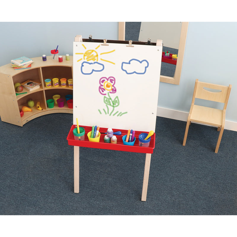Whitney Brothers Adjustable Double Easel with Dry Erase Boards