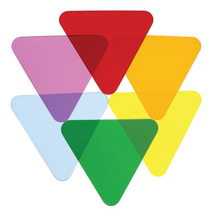 Whitney Brothers Color Wheel Triangles - Set Of Six