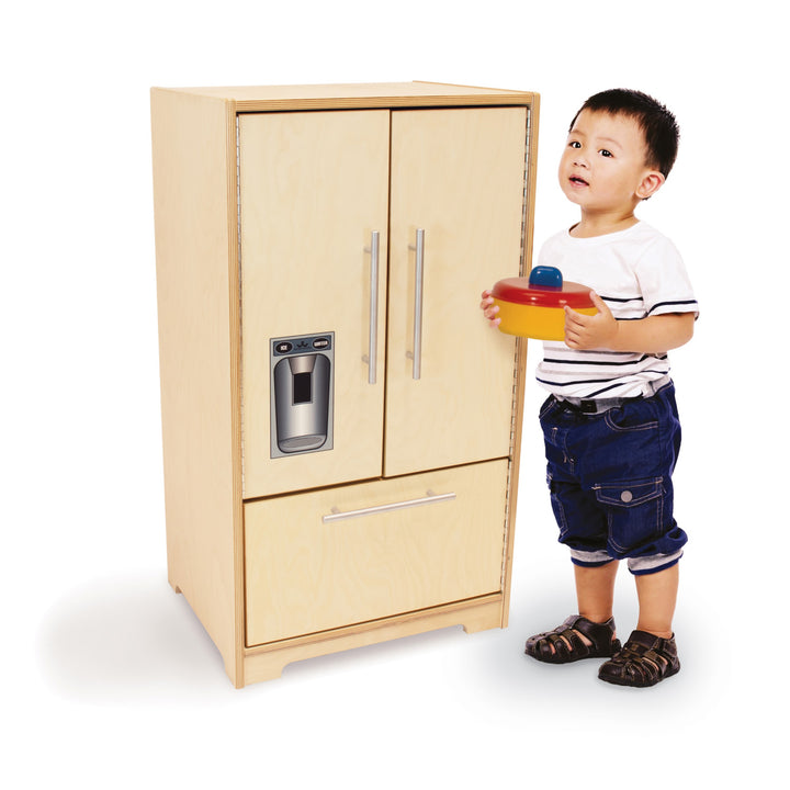 Whitney Brothers Contemporary Kids Play Refrigerator - Natural
