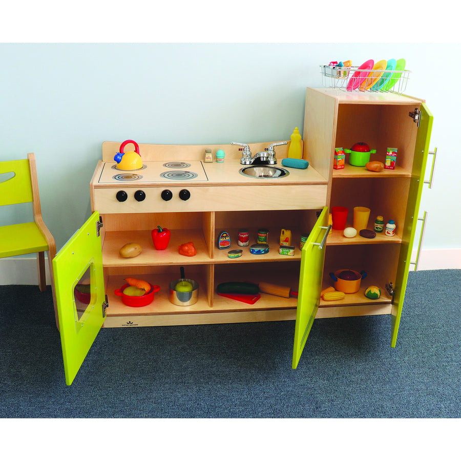 Whitney Brothers Contemporary Kids Play Kitchen Combo