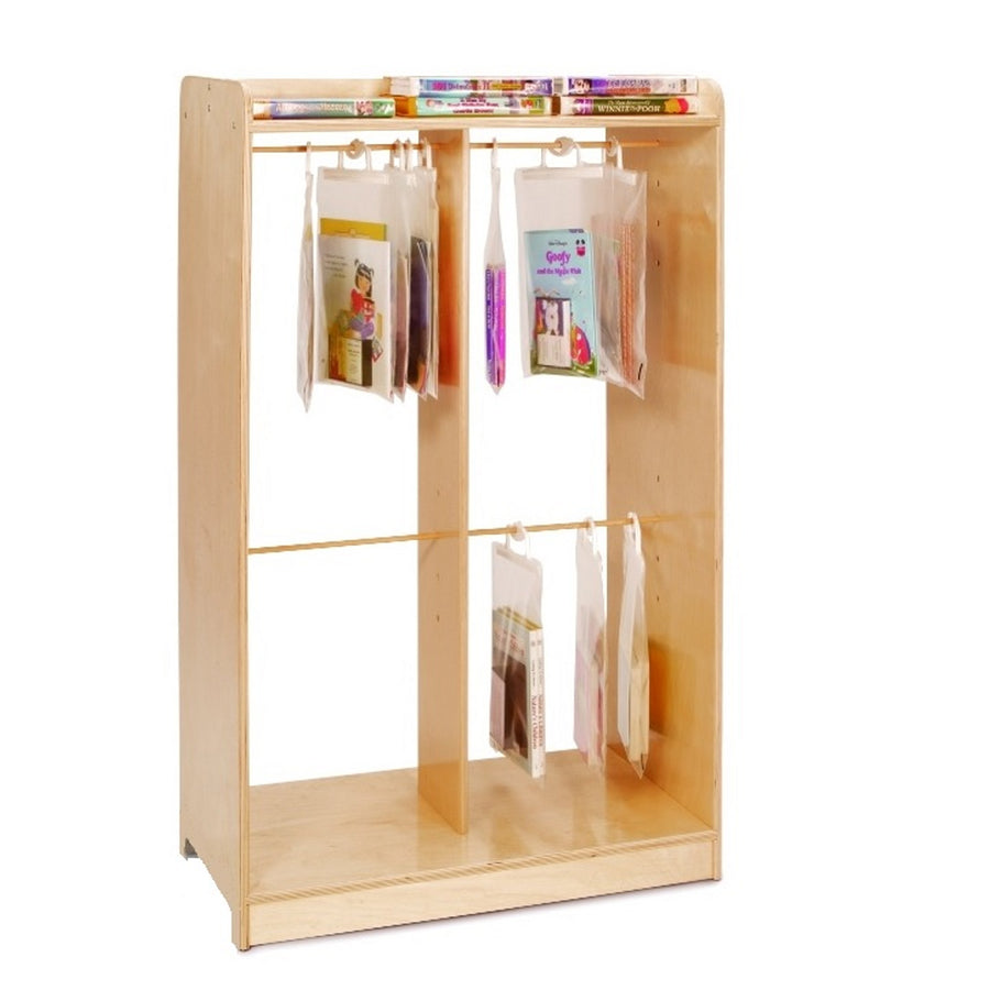 Whitney Brothers Hanging Bag Storage Cabinet