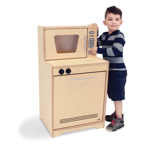 Whitney Brothers Kids Play Microwave And Dishwasher - Natural