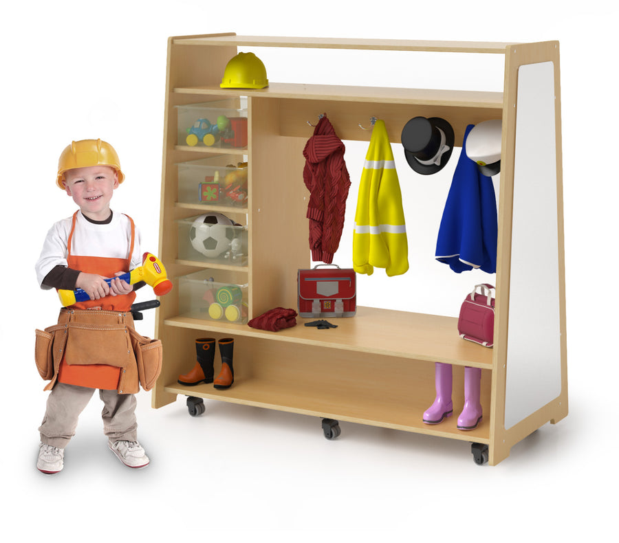 Whitney Brothers Mobile Dress-Up Center With Trays & Mirror