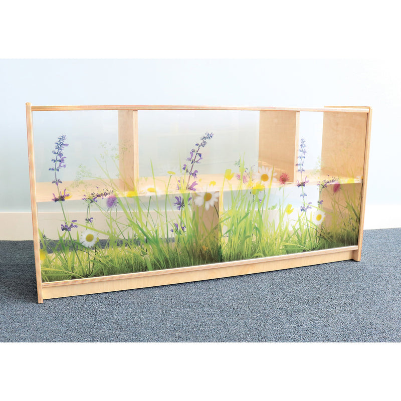 Whitney Brothers Nature View Acrylic Back Cabinet 24H