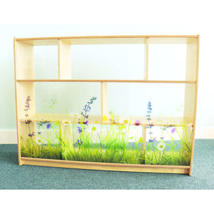 Whitney Brothers Nature View Acrylic Back Cabinet 36H