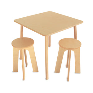 Whitney Brothers Stand Up Table With Two Stools Set