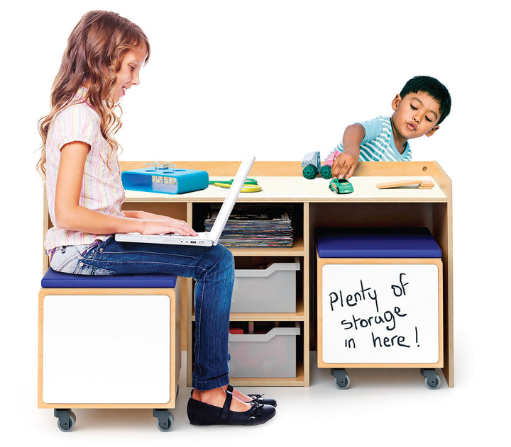 Whitney Brothers Stem Activity Desk And Mobile Bin Set