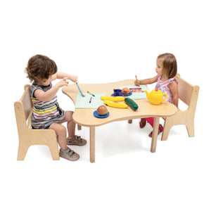 Whitney Brothers Toddler Flower Table And Two Chair Set