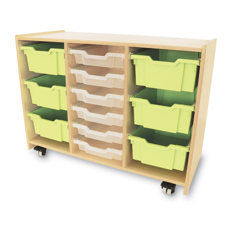 Whitney Plus Green Tray Storage Cabinet
