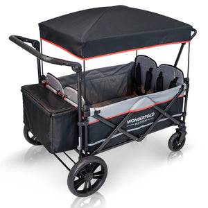 Wonderfold X4 Pull and Push Quad Stroller Wagon - 4 Seater