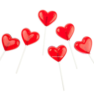 Red Heart Lollypops