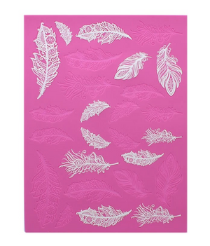 Feathers 3D Cake Lace Mat