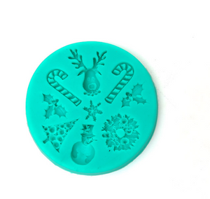 Load image into Gallery viewer, Christmas Icons Silicone Mould