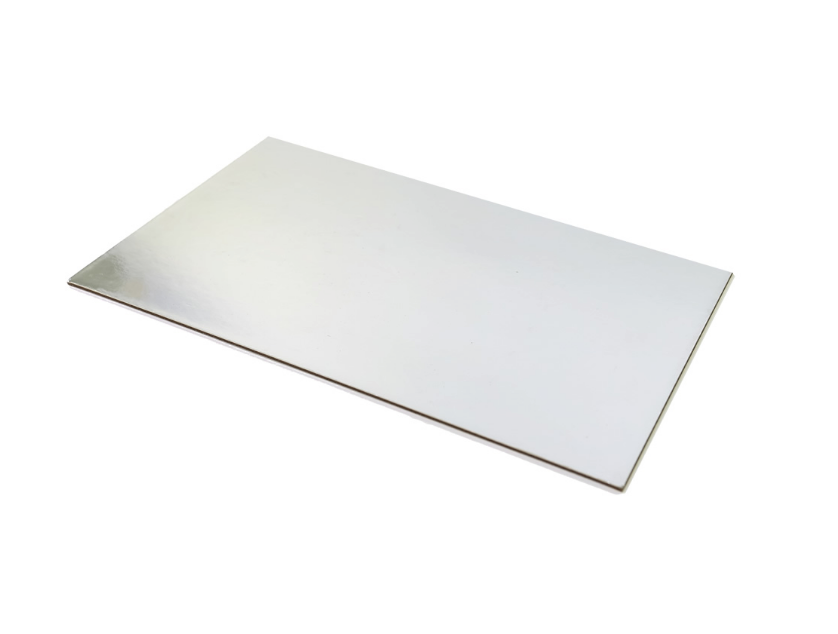 Load image into Gallery viewer, Silver Foil Rectangle Cake Board