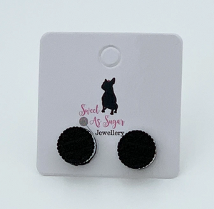 Cookies & Cream Stud Earrings