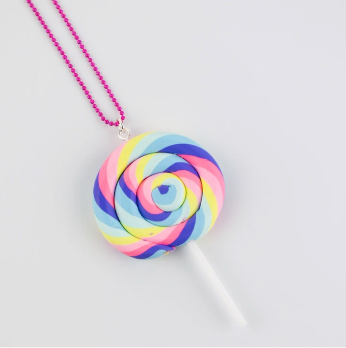 Large Pastel Lollipop Chain Necklace